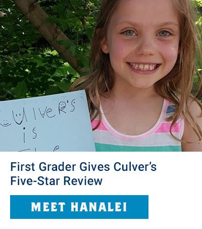 First Grader Reviews Culver's